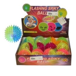 288 Units of Spiky Ball W 2 Color And Light - Balls