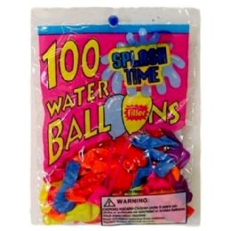 144 Units of 100 Piece Water Balloon With Filler - Balloons & Balloon Holder