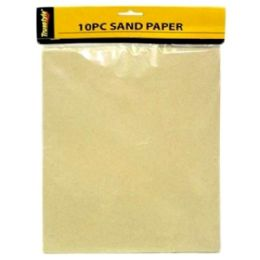 96 Units of 10 Piece Sand Paper - Paint and Supplies