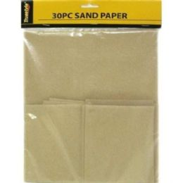 96 Units of 30 PIECE SANDPAPER ASST SIZE 13.5x9 INCHES - Paint and Supplies
