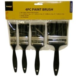 96 Units of 4 PIECE PAINT BRUSH 1, 1.5 2 3 INCH - Paint and Supplies