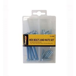 96 Units of HEX BOLTS AND NUTS SET - Drills and Bits