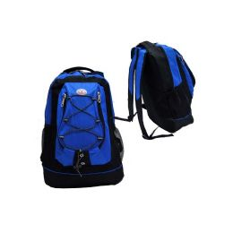 "24 Units of 18"" Backpack Black With Blue - Backpacks 18"" or Larger"