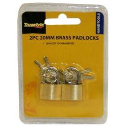 96 Units of 2pc 20mm Brasspadlocks - Padlocks and Combination Locks