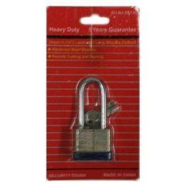 144 Units of 30mm Laminated Long Shank - Padlocks and Combination Locks