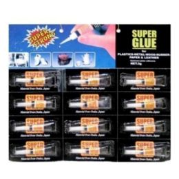 96 Units of 12PC SUPER GLUE ON CARD 14x13 IN - Glue Office and School