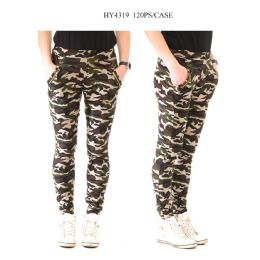 24 Units of Ladies Camo Printed Pants - Womens Pants