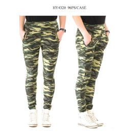 24 Units of Ladies Camo Print Pants - Womens Pants