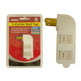 80 Units of 3 Outlet Wall Tap - Chargers & Adapters