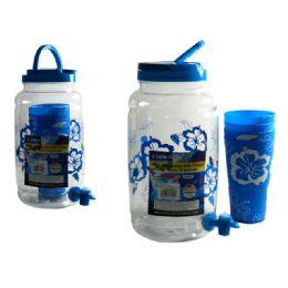 24 Units of Water Dispenser+4pc Tumblers - Plastic Drinkware