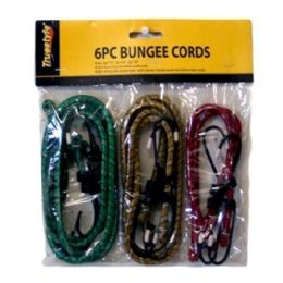 96 Units of 6pc Bungee Cords - Bungee Cords