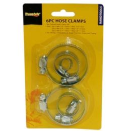 96 Units of 6pc Hose Clamps - Clamps