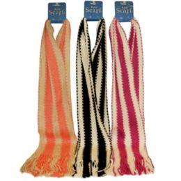 72 Units of Stripe Scarf - Winter Scarves