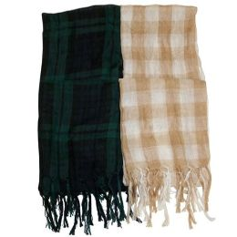 180 Units of Checker Style Scarf - Womens Fashion Scarves