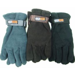 72 Units of Men Fleece Gloves - Fleece Gloves