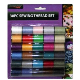 96 Units of 30 Piece Sewing Thread Set 8.5x7.2 in - Sewing Supplies