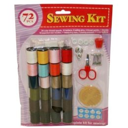 72 Units of 72 Piece Sewing Kit - Sewing Supplies