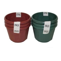 96 Units of 3 Pack Planters Dia 5in - Garden Planters and Pots