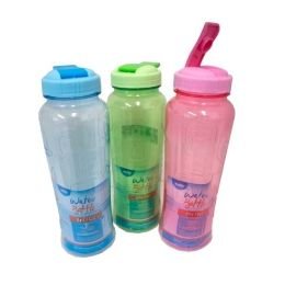 96 Units of 33OZ WATER BOTTLE ASSORTED COLOR WITH WRAP - Drinking Water Bottle