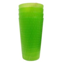 96 Units of 4 Piece Plastic Cups 22oz - Plastic Drinkware