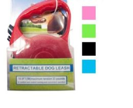 12 Units of Retractable Dog Leash - Pet Collars and Leashes