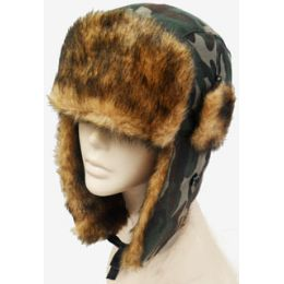 36 Units of Camouflage Aviator Hat - Trapper Hats
