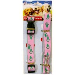 144 Units of 2pc Dog Collar And Leash - Pet Collars and Leashes