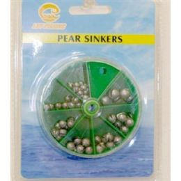 120 Units of Assorted Sinkers - Fishing Items