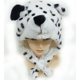 36 Units of Dalmatian Animal Winter Hat - Winter Animal Hats