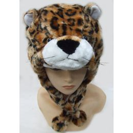 36 Units of Leopard Animal Winter Hat - Winter Animal Hats