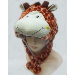 36 Units of Giraffe Animal Winter Hat - Winter Animal Hats