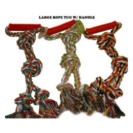 120 Units of Rope Tug With Handle - Pet Toys