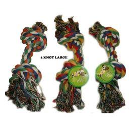 120 Units of Dog Rope 2 Knot Toy Large - Pet Toys