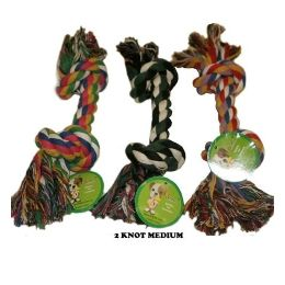 120 Units of Dog Rope 2 Knot Toy Medium - Pet Toys