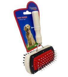 72 Units of 2 Sided Dog Brush - Pet Collars and Leashes