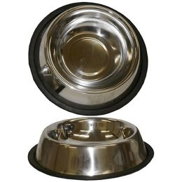 96 Units of 16 Ounce Anti Skid Stainless Steel Pet Bowl - Pet Accessories