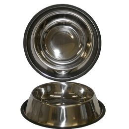 48 Units of 64oz Stainless Steel Pet Bowl Anti Slip - Pet Accessories