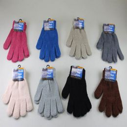 48 Units of Chenille Magic Winter Glove - Knitted Stretch Gloves