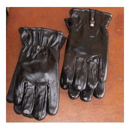 24 Units of Ladies Gloves - Heavy Leather Look Winter - Leather Gloves