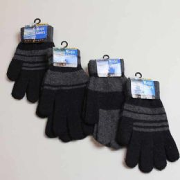 60 Units of Mens Gloves - Asst Stretch Winter - Knitted Stretch Gloves