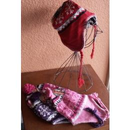 48 Units of Ladies Peruvian Helmet - Winter Helmet Hats