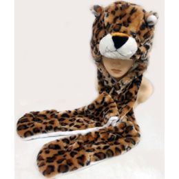 36 Units of Animal HaT- Leopard - Winter Animal Hats