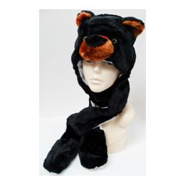 36 Units of Animal HaT- Black Bear - Winter Animal Hats