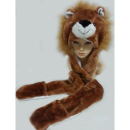 36 Units of Animal HaT-Lion - Winter Animal Hats