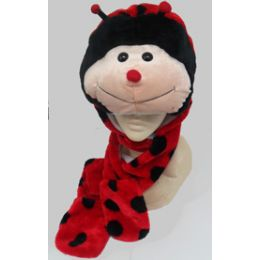36 Units of Animal HaT-Lady Bug - Winter Animal Hats