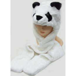 36 Units of Animal HaT-Panda - Winter Animal Hats