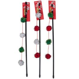 144 Units of Cat Toy Christmas Wand Assortment - Pet Toys