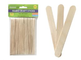144 Units of 50 Piece Jumbo Craft Stick - Craft Wood Sticks and Dowels