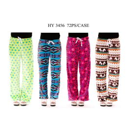 72 Units of Womans Lounging Pants Assorted Prints - Womens Pants