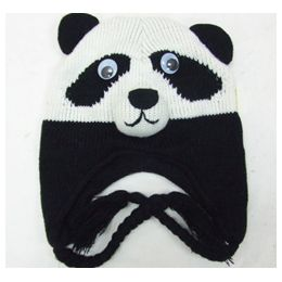 48 Units of Knit Animal HaT-Panda - Winter Animal Hats